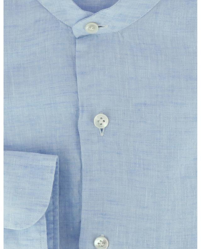 Chemise à manches longues en lin à col mao BARBA