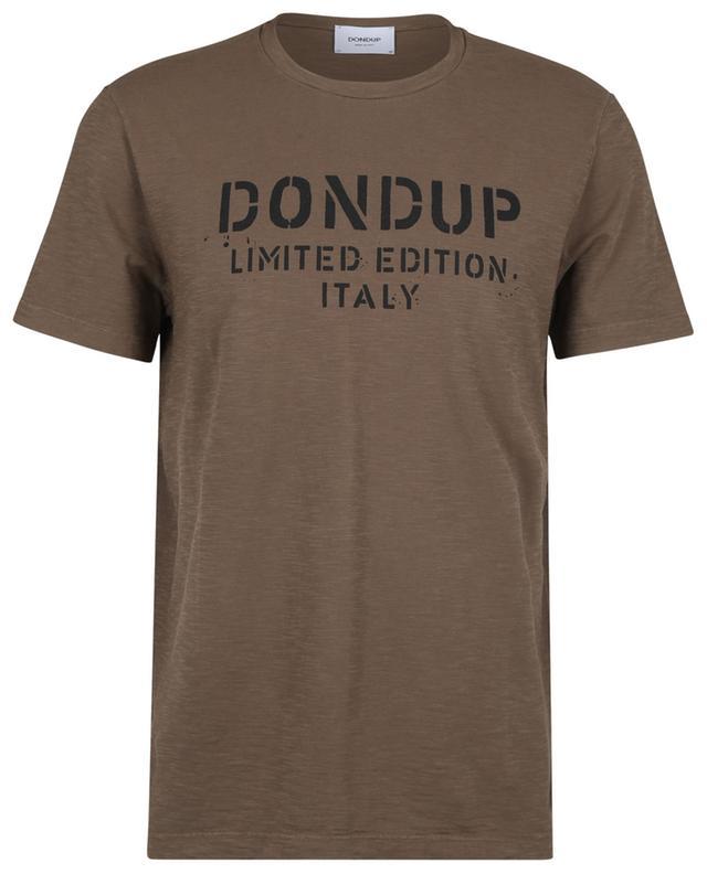 T-Shirt en coton flammé imprimé LIMITED EDITION. DONDUP
