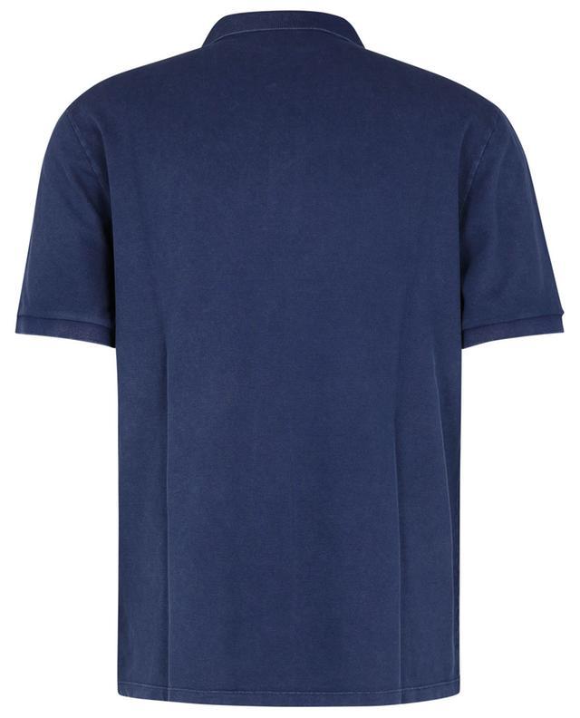 Polohemd aus Baumwollstretch mit Metall-Logo DONDUP