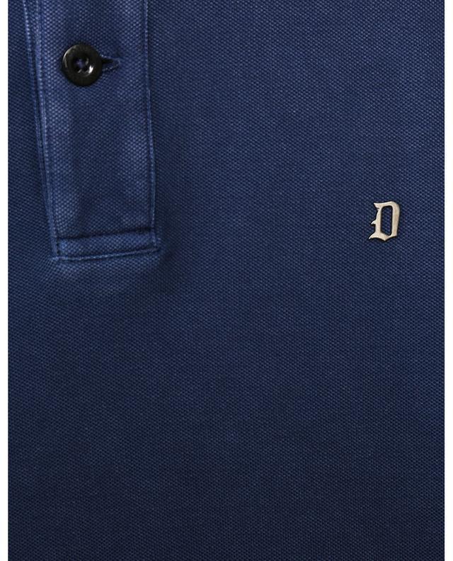 Polo en coton avec logo en métal DONDUP