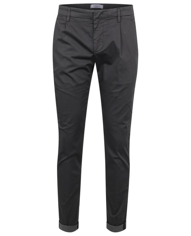 Pantalon à pinces slim en popeline Gaubert DONDUP