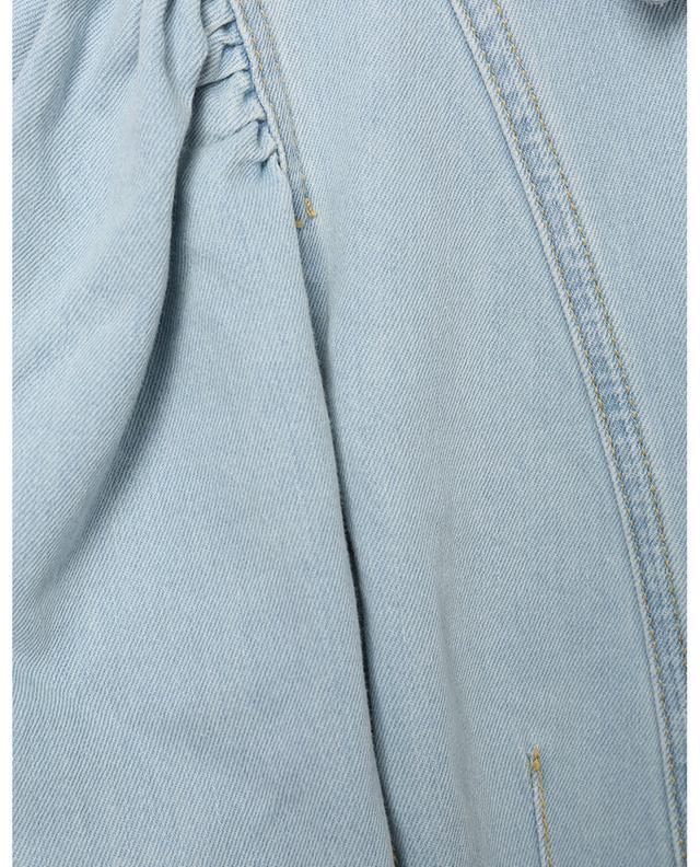 Chemise ajustée en denim à manches ballon raccourcies TWINSET