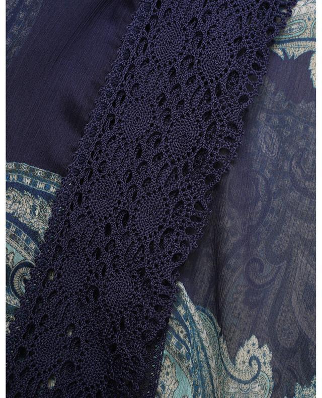 Mini robe caftan en mousseline imprimée paisley TWINSET
