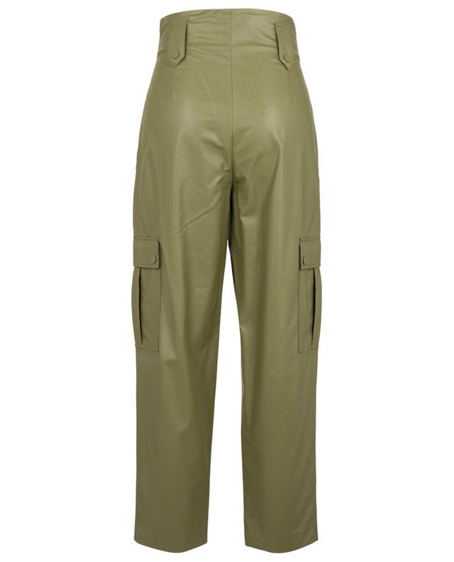 Pantalon cargo en cuir synthétique avec ceinture TWINSET