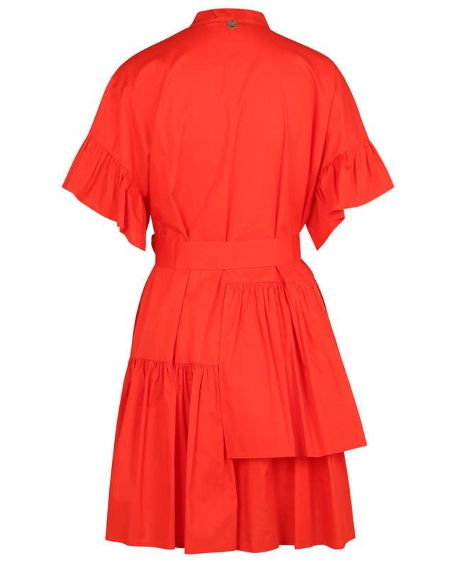 Mini robe en popeline à volants TWINSET