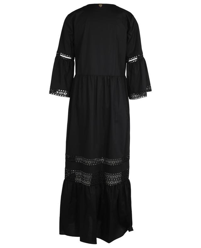 Longue robe ample à nervures avec dentelle TWINSET