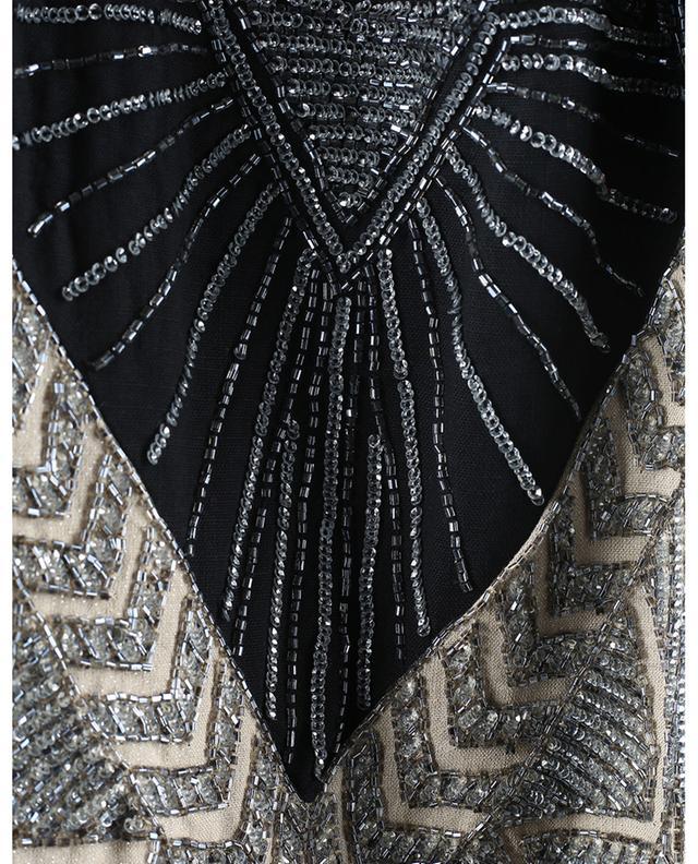 Robe sans manches en lin mélangé scintillant brodé de perles TWINSET