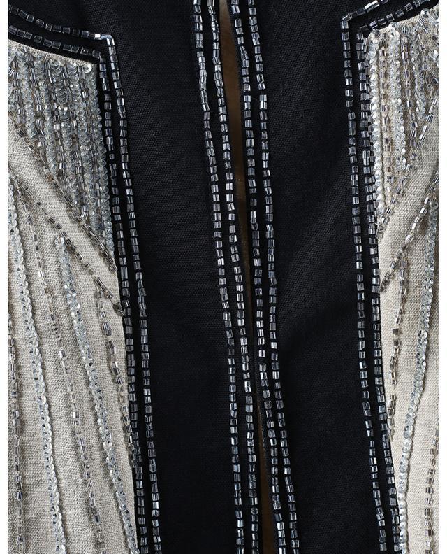 Veste en lin mélangé scintillant brodé de perles TWINSET