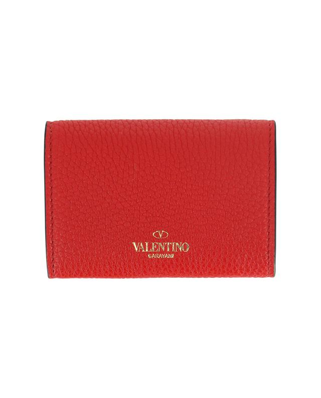 Mini porte-monnaie en cuir grainé Rockstud VALENTINO
