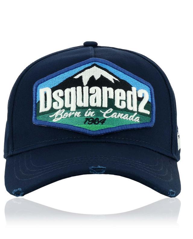 Casquette effet vieilli à patch logo Mountains DSQUARED2