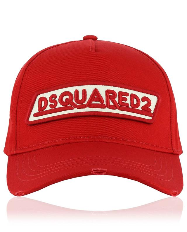 Casquette effet vieilli à patch logo DSQUARED2