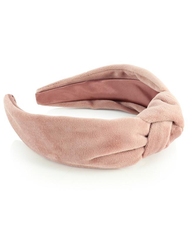 Serre-tête en velours rose orné d'un noeud ESTELLA BARTLETT