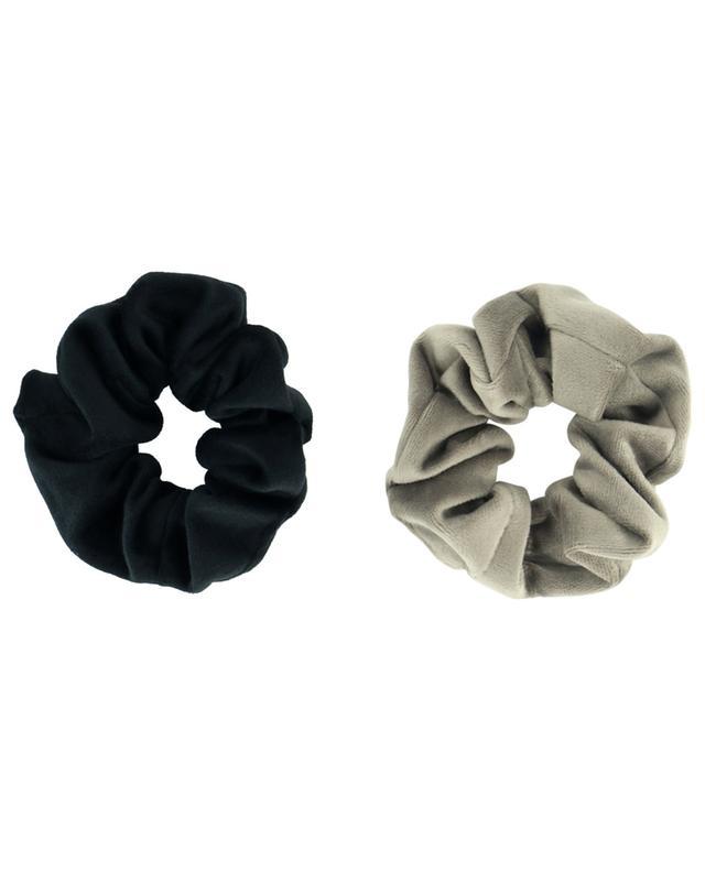 Set de chouchous en velours noir et gris ESTELLA BARTLETT