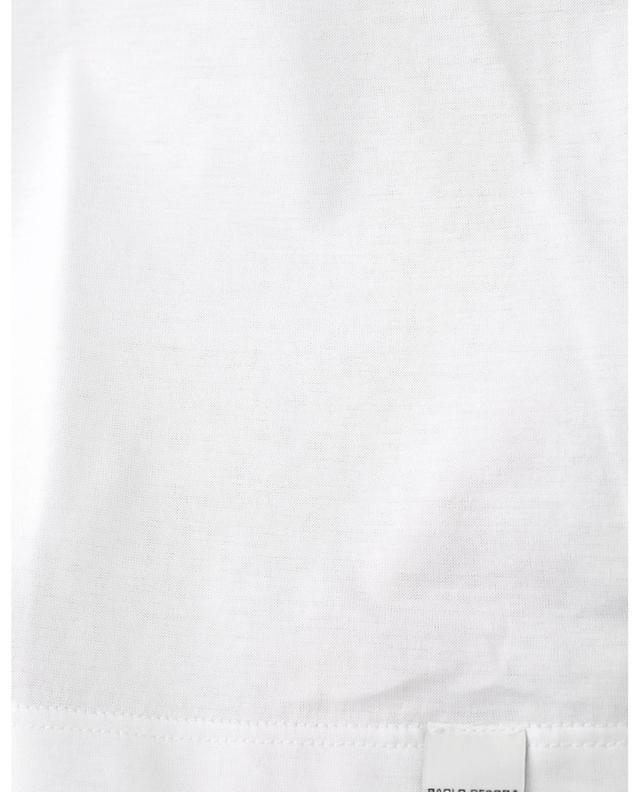 T-shirt à col rond en jersey légèrement transparent PAOLO PECORA