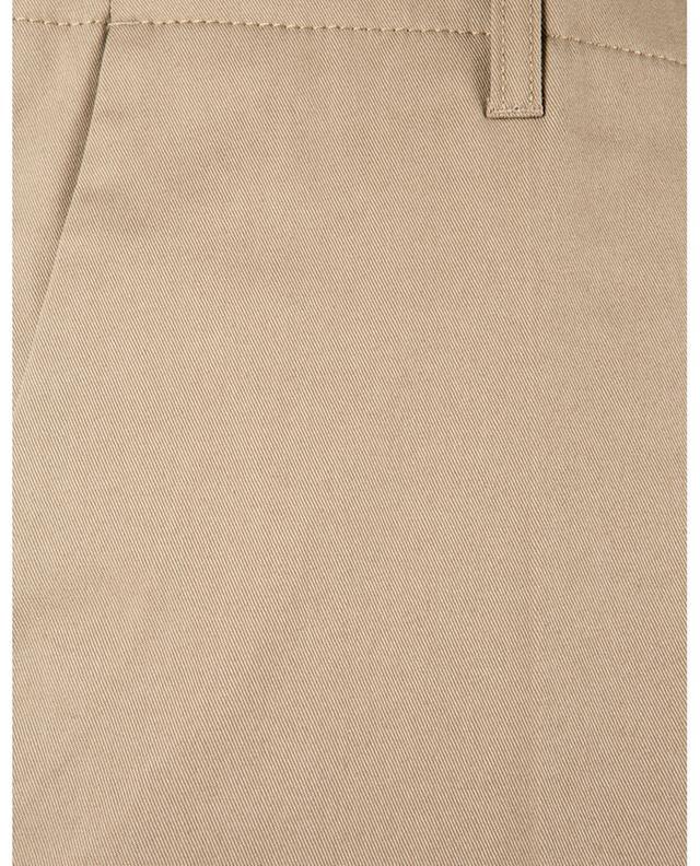 Pantalon slim en gabardine de coton PAOLO PECORA