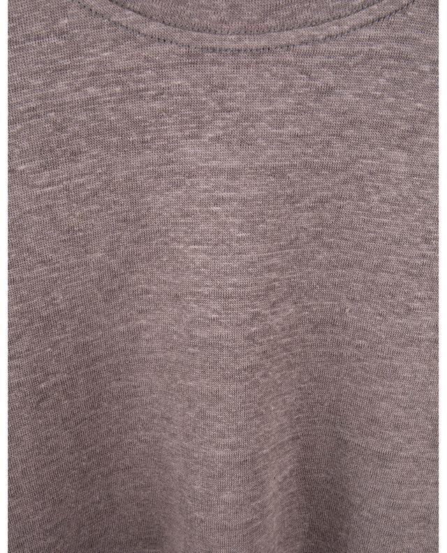 T-shirt en jersey de lin à manches courtes PAOLO PECORA