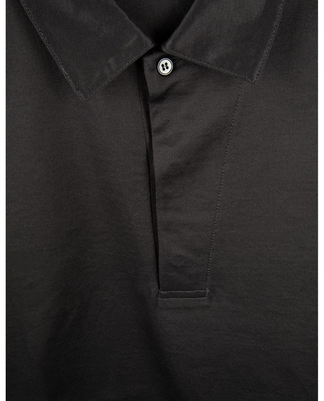 Polo slim à manches courtes en jersey de coton PAOLO PECORA