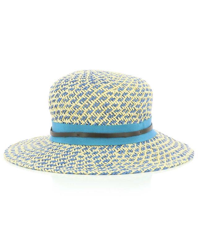 Paper hat in blue and beige GI'N'GI