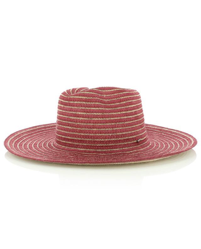 Two-tone striped hat in jute and viscose GI'N'GI