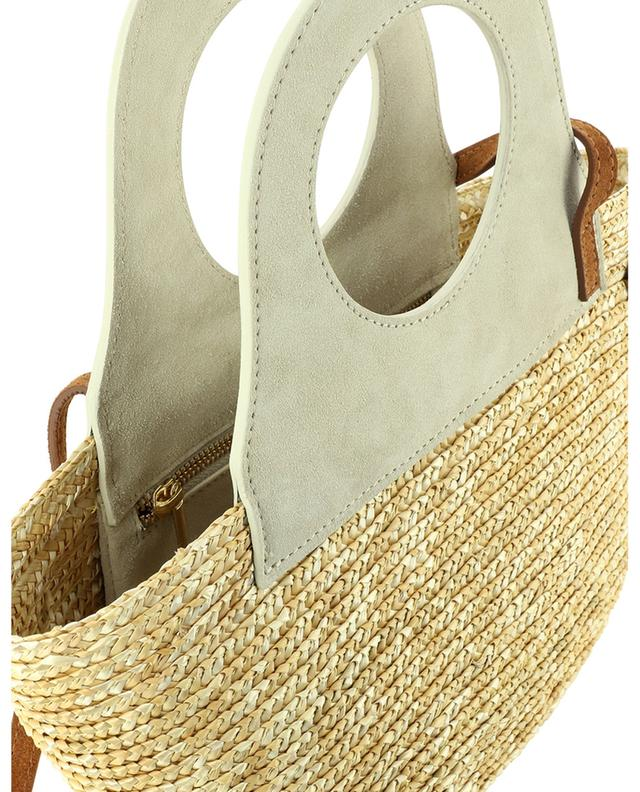 Small straw and suede tote bag CATARZ 1910