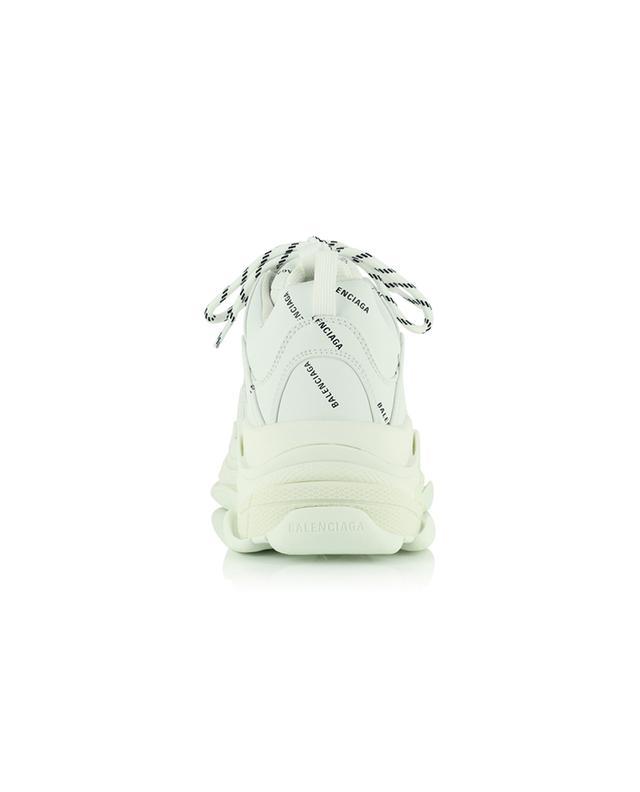 Baskets à lacets en cuir synthétique Triple S Allover Logo BALENCIAGA