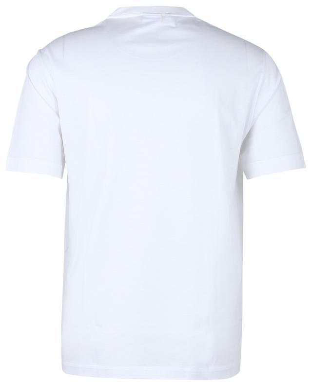 T-shirt à col rond léger brodé logo BRIONI