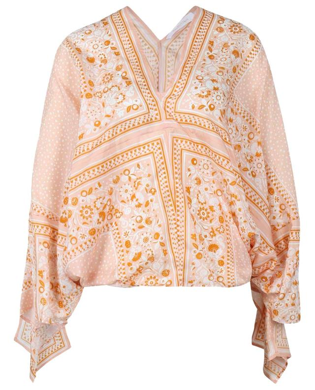 Top raccourci en soie esprit foulard imprimé Portobello SEE BY CHLOE