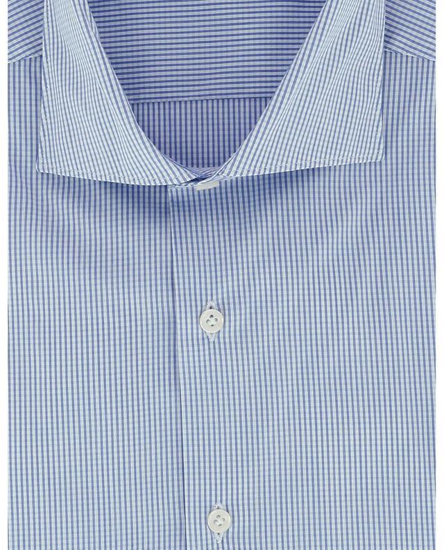 Chemise à carreaux slim en popeline stretch FAY