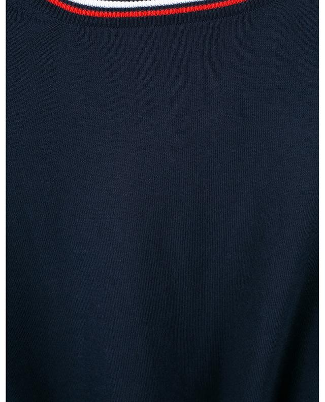 Pull fin en coton à col rond bicolore FAY