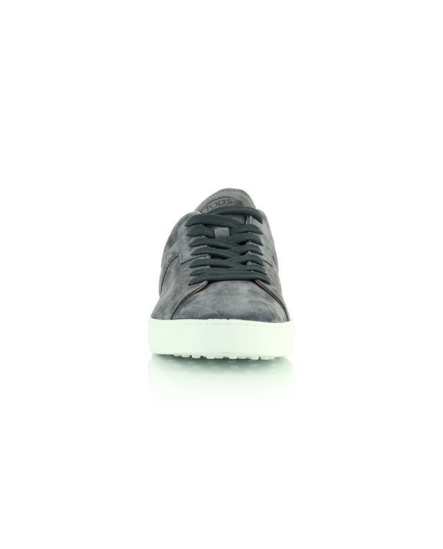 Baskets basses à lacets en daim gris New Sport Leggero TOD'S