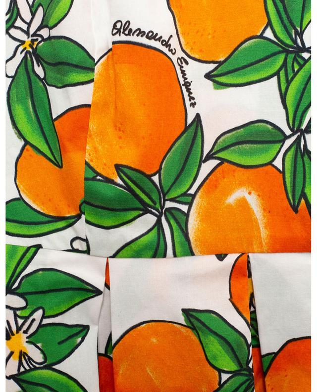 Robe à bretelles en popeline imprimée Mandarines ALESSANDRO ENRIQUEZ