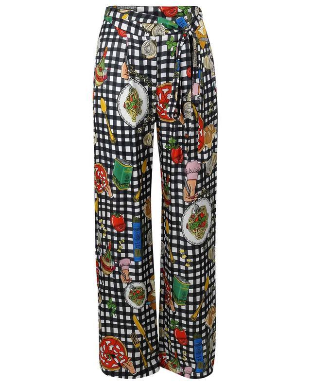 Pantalon large imprimé carreaux Ristorante ALESSANDRO ENRIQUEZ