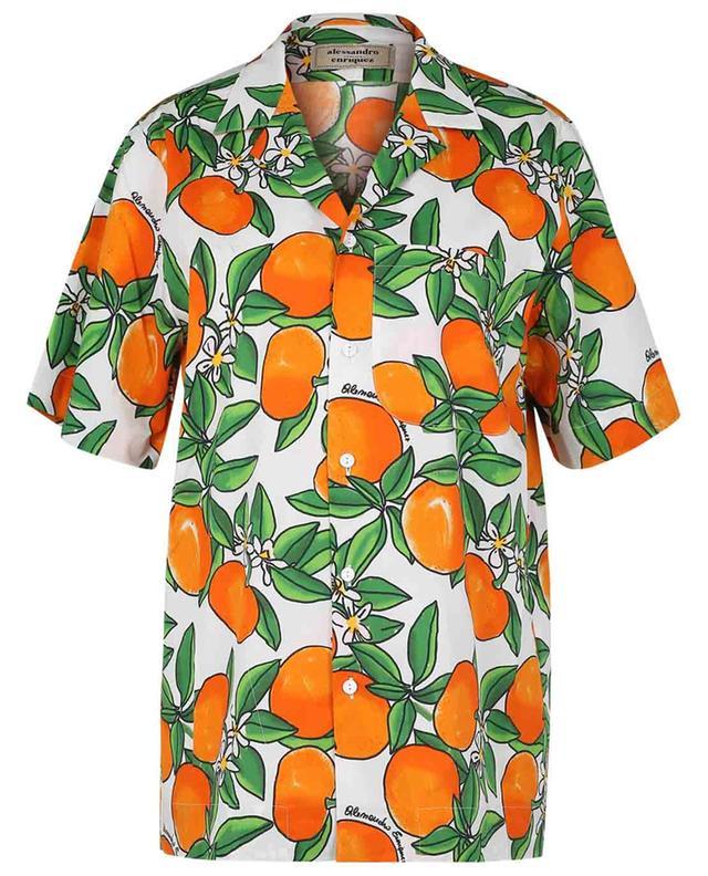 Chemise à manches courtes imprimée Mandarines ALESSANDRO ENRIQUEZ