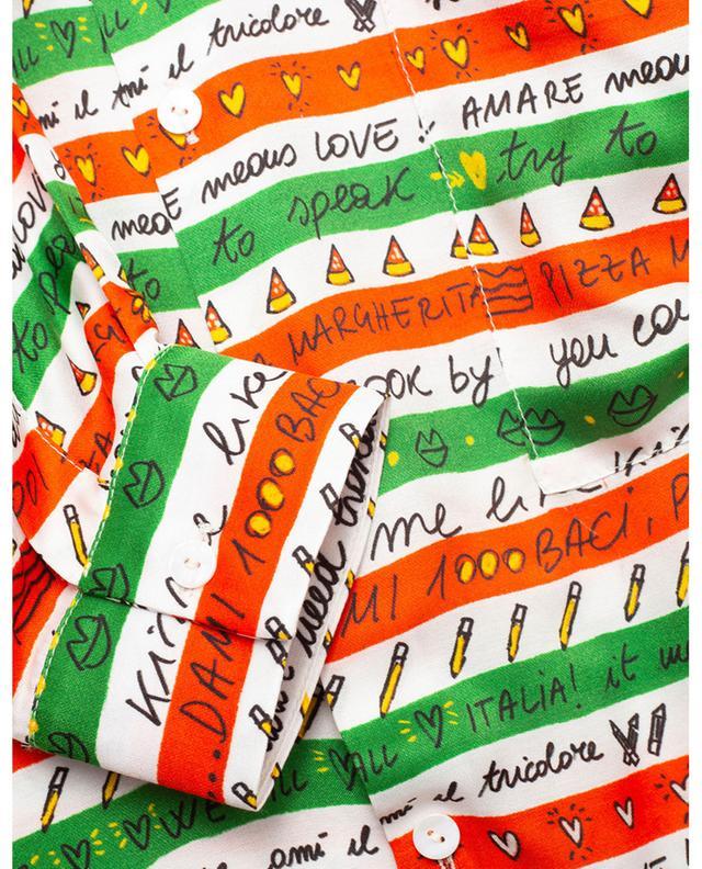 Chemise oversize à carreaux imprimée rayures Pizza Tricolore ALESSANDRO ENRIQUEZ
