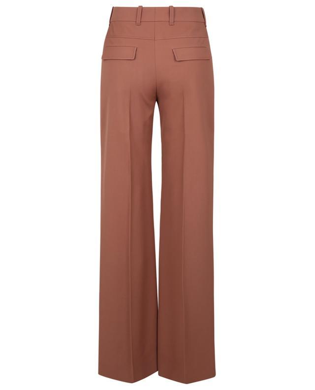 Pantalon évasé en laine grain de poudre CHLOE