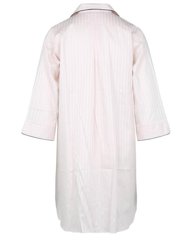 Chemise de nuit en satin de coton rayé Luxury Swiss Voile ZIMMERLI