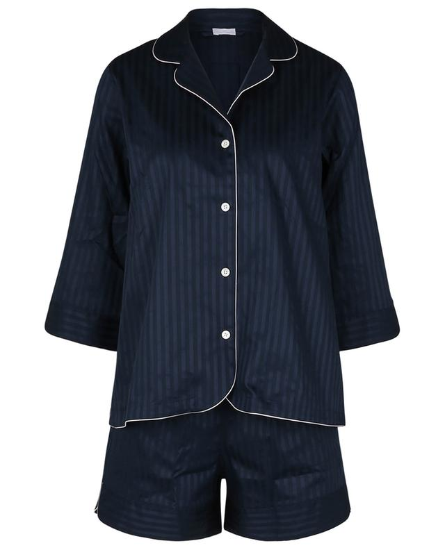 Pyja-short en satin de coton rayé Luxury Swiss Voile ZIMMERLI
