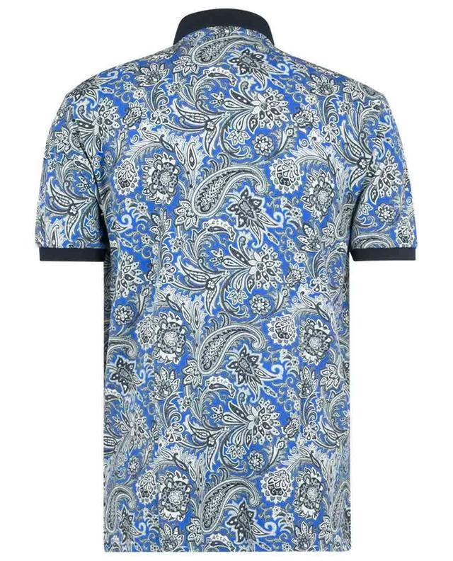 Polohemd aus Baumwollpiqué mit Print Paisley Leafy ETRO