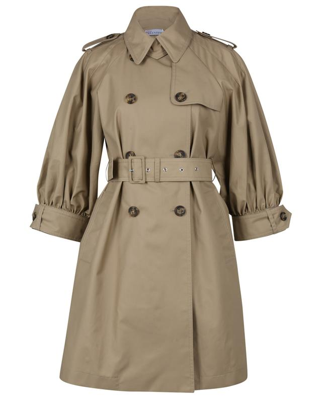 Trench en gabardine à manches trois-quarts bouffantes RED VALENTINO