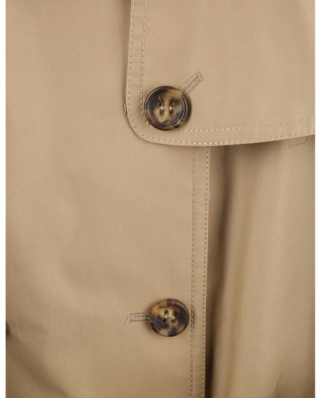 Gabardine trench coat with three-quarter puff sleeves RED VALENTINO