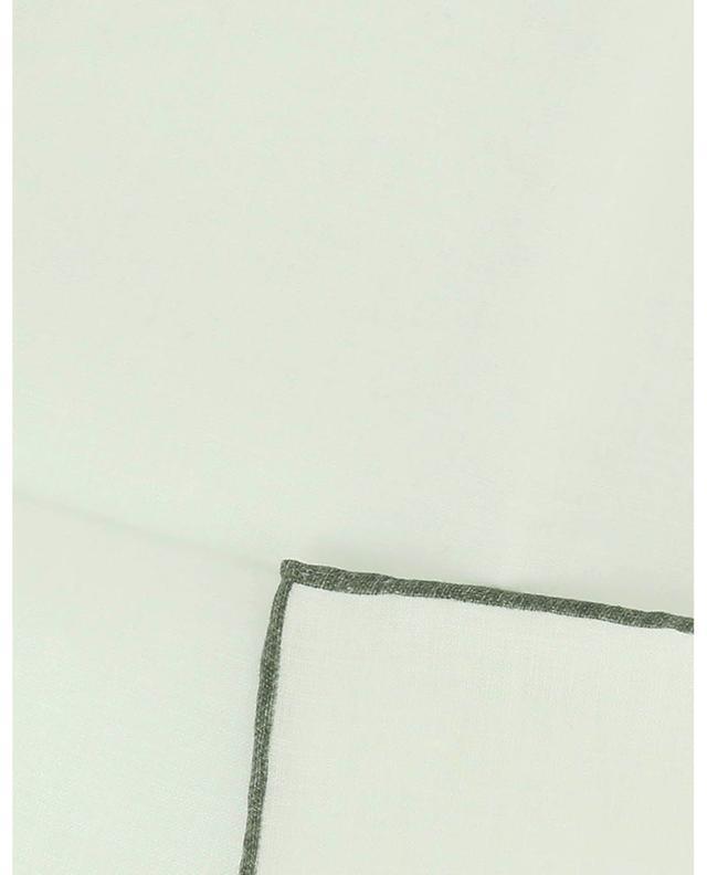 Pochette en lin à liséré contrasté Fox ROSI COLLECTION