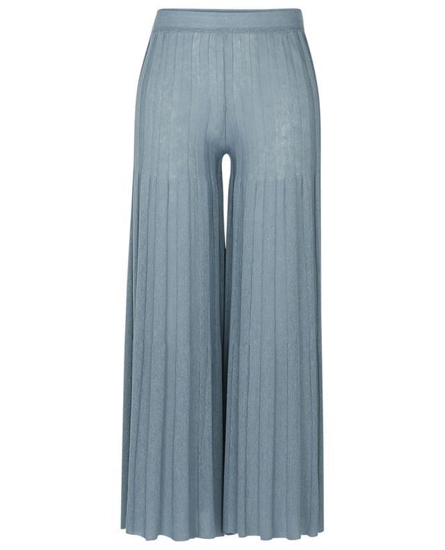 Pantalon large en maille plissée Vienna FEDELI
