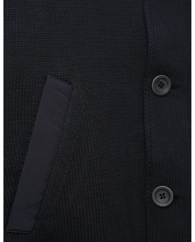 Cardigan boutonné en coton à capuche en nylon déperlant HERNO