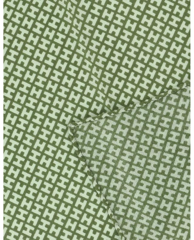 Pochette monogrammée en cachemire et soie HEMISPHERE