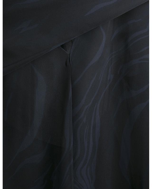Robe courte à godets en soie imprimée Galaxy THEORY