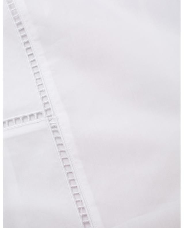 Blouse manches courtes en coton et détails oeillets THEORY