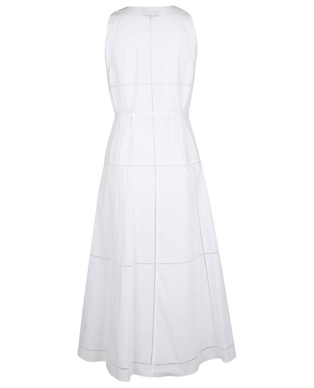 Robe sans manches en coton avec détails oeillets THEORY