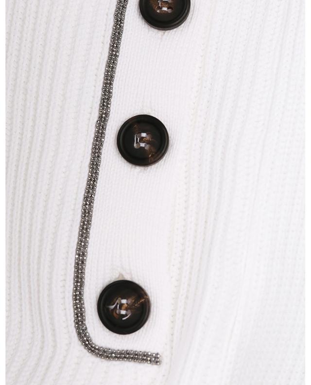 Pull côtelé ample en coton à poches boutonnées brodées Monile BRUNELLO CUCINELLI