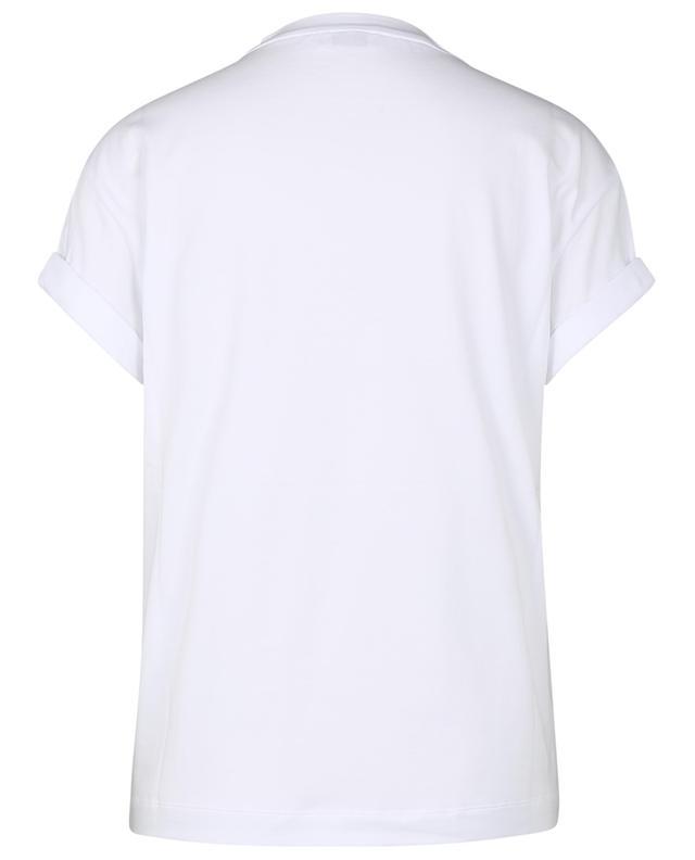 T-shirt en coton stretch détail poche brodée Monile BRUNELLO CUCINELLI