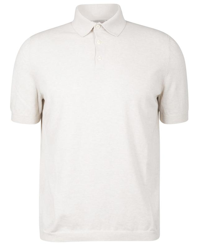Tennis fitted cotton knit polo shirt GRAN SASSO